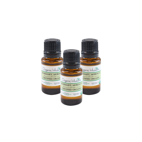 Organic Rosemary Essential Oil 15ml (3-Bottle Special)