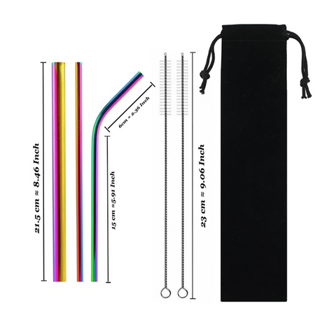 Image of Stainless Steel Straw (Set Of 5)