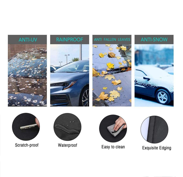 Winter Auto-Combo: Windshield Protective Cover + Ice Scraper