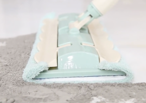 2 in 1 Sweep Mop [LIMITED TIME DEAL] - BONUS 1 Replacement Cloth + Dirt Scrubber