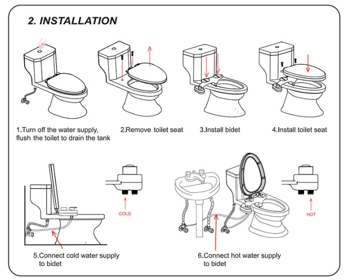 Bidelli™ - Mechanical Bidet Toilet Attachment To Forever Replace Toilet Paper & Save You Money