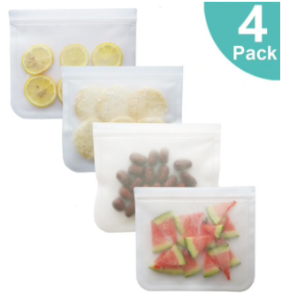 Reusable Silicone Combo Set (6pc Silicone Lids + 4pc Silicone Food Bag)