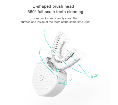 U-LIA™ - Sonic Electric Toothbrush For 360° Full Scale Cleaning
