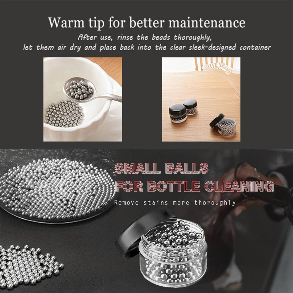 Stainless Steel Cleaning Beads For Glass Decanters & Carafes