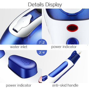 Amest™ 2-in-1 Garment Steamer & Iron To Smooth Out Stubborn Wrinkles With 2 Additional Brush Heads