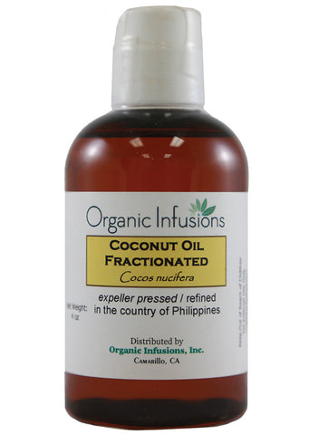 Organic Coconut Fractionated Oil - USDA Certified ( 8oz )
