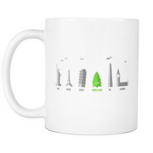 No Limits Monument Mug White