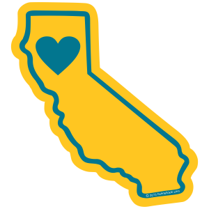 California (Northern) Heart Sticker