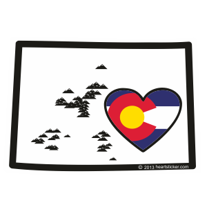 Colorado Heart Sticker