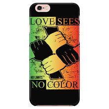 Love Sees No Color Bound Fist iPhone 5/5s, iPhone 6 Plus/6s Plus, & iPhone 6/6s
