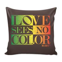 Love Sees No Color Multi Colors Pillow Cover