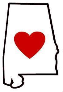Alabama - Heart in Alabama Sticker