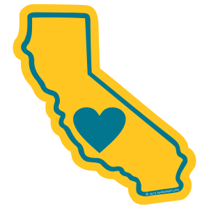 California Heart Sticker