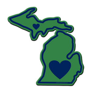 Michigan - Heart in Michigan Sticker