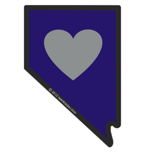 Nevada - Heart in Nevada Sticker