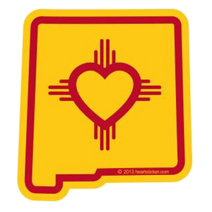 New Mexico - Heart in New Mexico Sticker