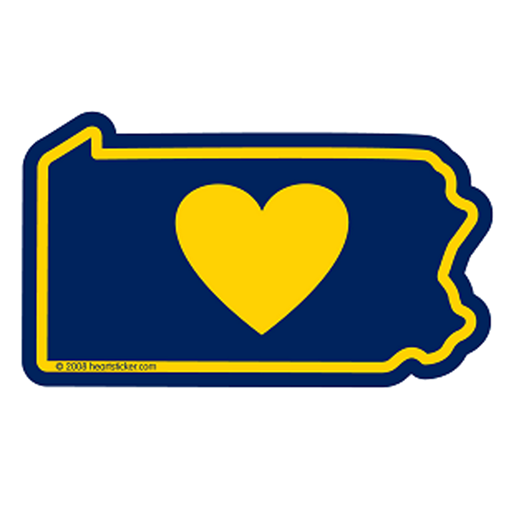 Pennsylvania Heart Sticker
