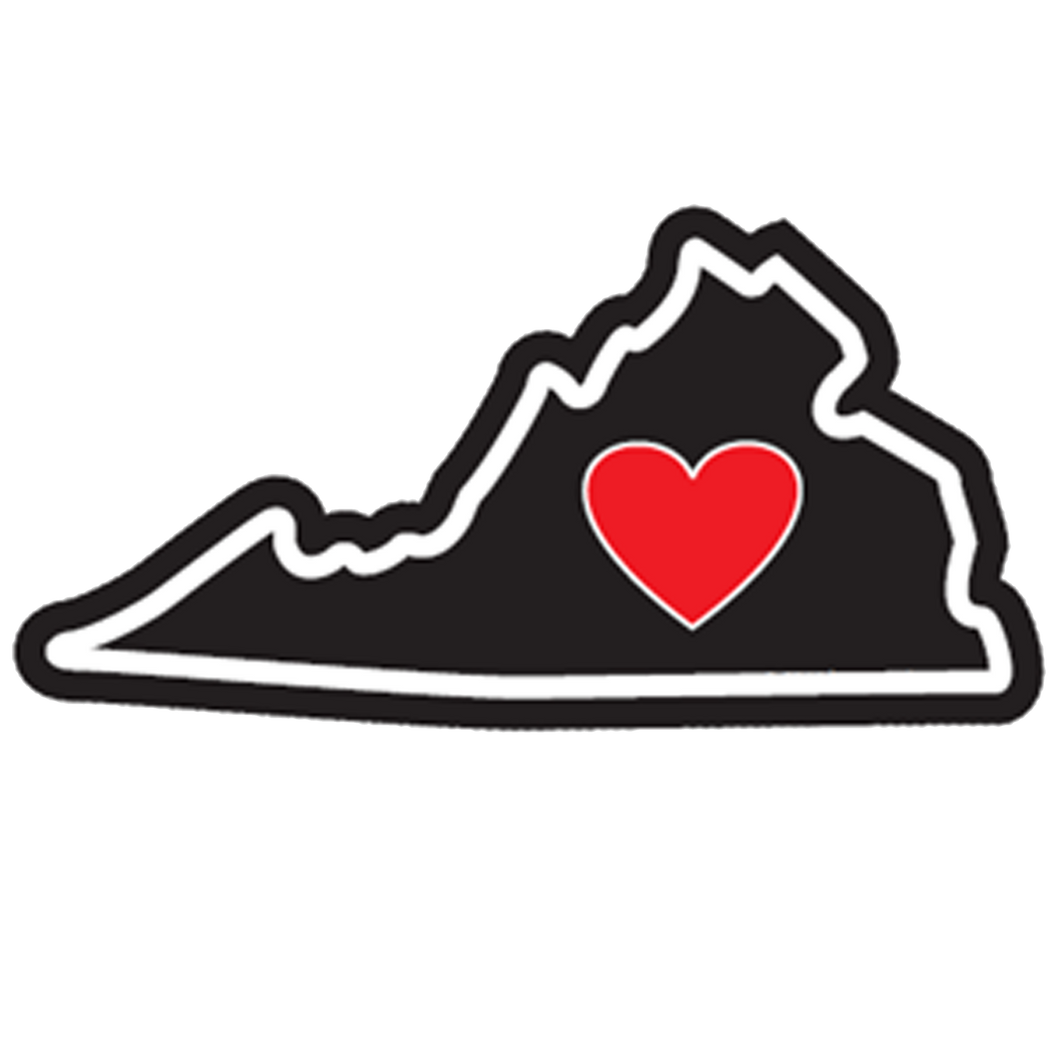 Virginia - Heart in Virginia Sticker