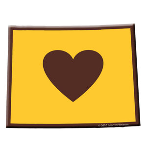 Wyoming - Heart in Wyoming Sticker
