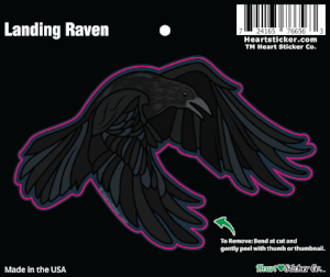 Landing Raven - Vinyl Sticker - Die Cut - All Weather - G.O.T.