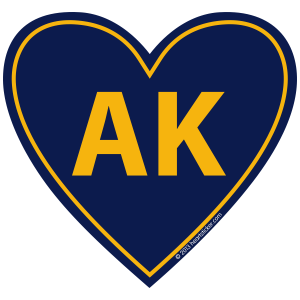 Alaska Heart Sticker
