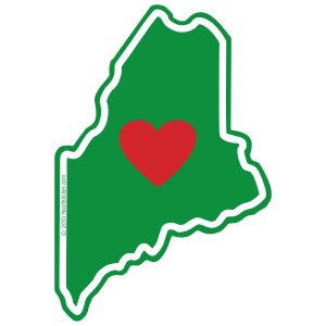 Maine - Heart in Maine Sticker