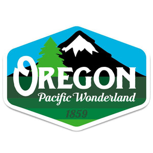 Oregon Pacific Wonderland 1859 Vintage Sticker