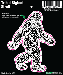 The Tribal Bigfoot Stroll Sticker - die cut