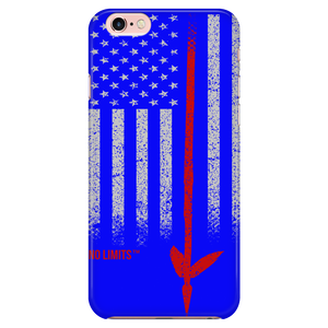 Native American Spear Flag iPhone 5/5s, iPhone 6 Plus/6s Plus, & iPhone 6/6s Blue