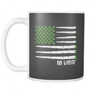 Marijuana Joint Flag White Mugs