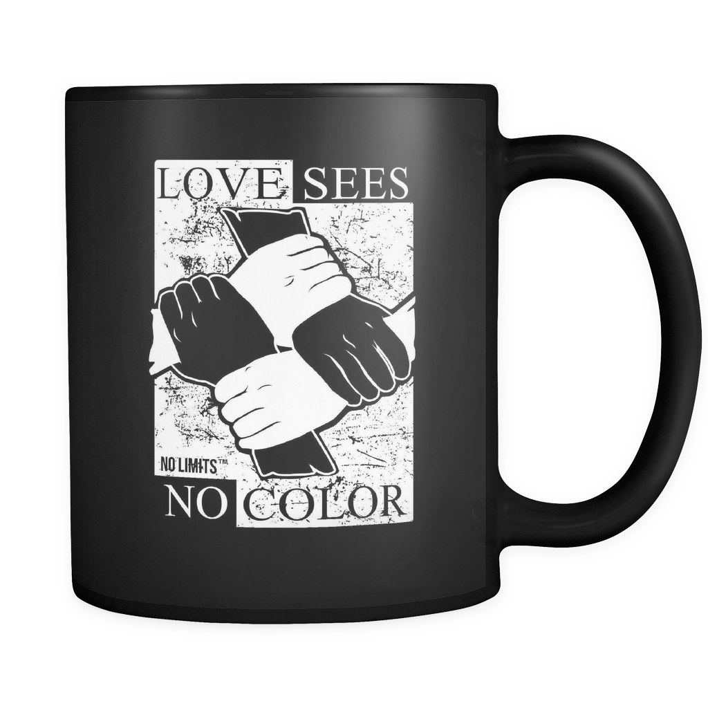 Love Sees No Color Bound Fist Mugs