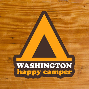 Happy Camper Washington Sticker