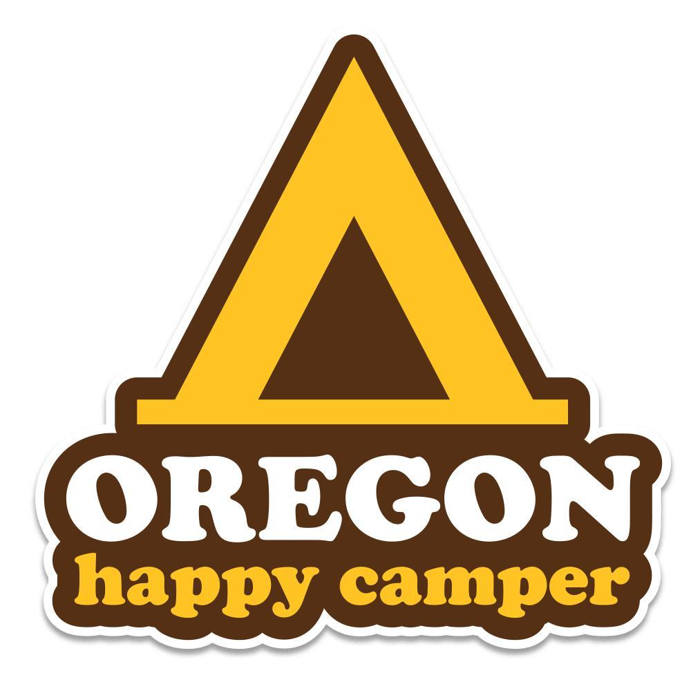 Happy Camper Oregon Sticker