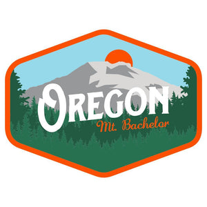 Mt. Bachelor Oregon Vintage Sticker