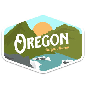 Oregon Rogue River Vintage Sticker