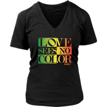 Love Sees No Color Rainbow District Women's V Neck by No Limits