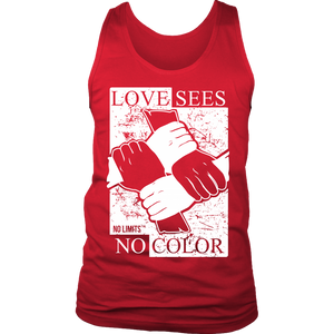 Love Sees No Color Bound Fist District Mens Tank by No Limits