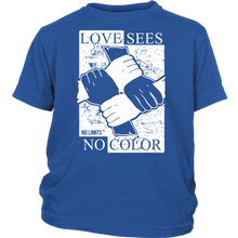 Love Sees No Color Bound Fist District Youth T-Shirt by No Limits