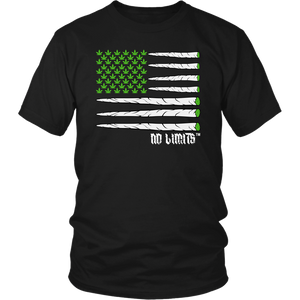 Marijuana Joint Flag District Unisex Shirt by No Limits