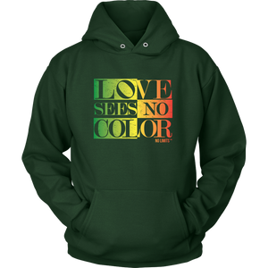 Love Sees No Color Rainbow Unisex Hoodie by No Limits