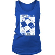 Love Sees No Color Bound Fist District Women's Tank by No Limits