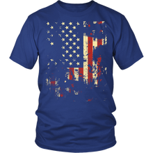 Distressed American Flag Gildan Unisex Shirt