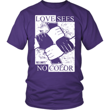 Love Sees No Color Bound Fist District Unisex Shirt by No Limits