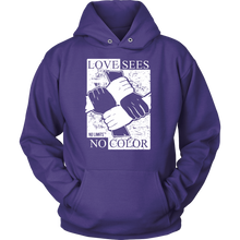 Love Sees No Color Bound Fist Unisex Hoodie by No Limits