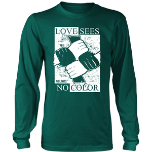 Love Sees No Color Bound Fist District Long Sleeve Shirt  by No Limits