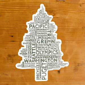 Washington Word Tree Sticker