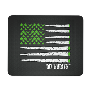 Marijuana Blunt Flag Black or White Mouse Pad