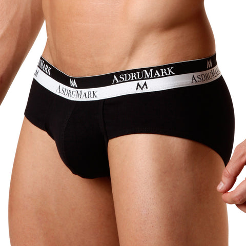 AsdruMark Brief Classic Black Men's Underwear