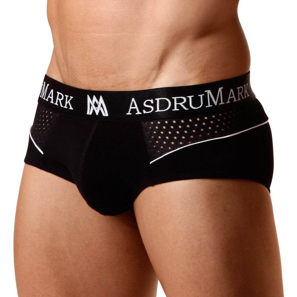 AsdruMark Brief Classic Sport Black Men's Underwear