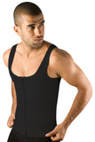 Moldeate Men's Shapewear Compression Vest, Black, Zipped